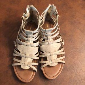 Madden girl gladiator sandals.